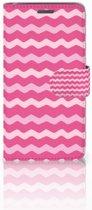 Wiko Rainbow Jam Uniek Boekhoesje Waves Pink