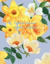 Calendar Planner 2020-2021: January 1, 2020 to December 31, 2021: Weekly & Daily View Planner, Organizer & Calendar, Watercolor Yellow Flowers Cov
