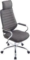 Clp Comfortabele draaibare bureaustoel RAKO managerstoel - ergonomisch, hoge rugleuning - donkergrijs