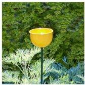 Voederbloem op stengel geel  - set van 2 stuks