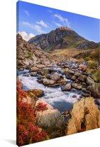 Berglandschap van het Nationaal park Snowdonia Canvas 90x140 cm - Foto print op Canvas schilderij (Wanddecoratie woonkamer / slaapkamer)