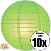 10 groene lampionnen met een diameter van 35cm