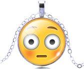 Emoji ketting blozend gezicht
