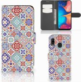 Bookcase Samsung Galaxy A30 Tiles Color