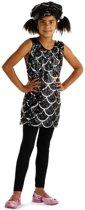 Disco jurk zwart maat 134/146