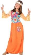 Hippie verkleedjurk/kostuum voor meisjes - carnavalskleding - voordelig geprijsd 128 (7-9 jaar)
