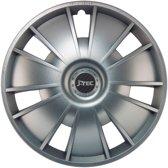 4-Delige J-Tec Wieldoppenset Emotion 14-inch zilver