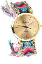 Geneva Ibiza Horloge - Pretty Pink | Fashion Favorite | Gevlochten Bandje