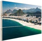 Copacabana strand Rio de Janeiro Hout 60x40 cm - Foto print op Hout (Wanddecoratie)