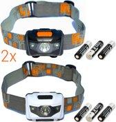 Hoofdlampen LED | 2 st. | 160 lumen | incl. batterijen | KMHL007