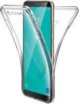 Samsung Galaxy J6 (2018) Hoesje Siliconen TPU + Screenprotector Transparant voor Volledige 360 Graden Bescherming - Gel Case van iCall