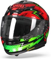 SHOEI NXR VARIABLE TC-4 ZWART GROEN ROOD INTEGRAALHELM S