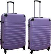 2 delige ABS kofferset 69 en 95 liter lila (228)