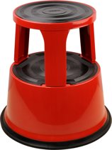 DESQ opstapkruk - Rood - Metaal - Hoogte 42,6 cm