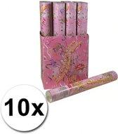 10 bruiloft confetti shooters 40 cm - party popper / confetti kanon