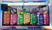 7X Gezichtsmasker voor elke dag | verfrissende maskers tegen vermoeidheid | Week maskers | Smoothie maskers | Clay Masker