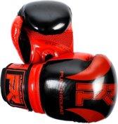 Punch Round Bokshandschoenen SLAM Pin Dott Zwart Rood 10 OZ Bokshandschoenen