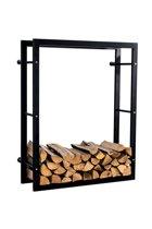 Clp Keri - Brandhoutrek - Wandrek - Mat zwart - 25 x 100 x 150 cm