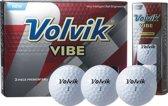 Volvik - VIBE golfbal - 12 pack - wit