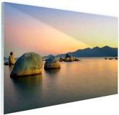 Itaguacu strand Glas 60x40 cm - Foto print op Glas (Plexiglas wanddecoratie)