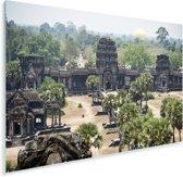 Angkor Wat binnenplaats van het tempelcomplex Plexiglas 180x120 cm - Foto print op Glas (Plexiglas wanddecoratie) XXL / Groot formaat!