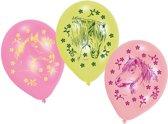 Paarden ballonnen gekleurd 6 stuks