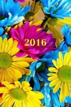 2016: Calendario/Planificador de Cita: 1 Semana En 2 Lados, Formato 6 X 9 (15.24 X 22.86 CM), Encuadernaci�n Flores