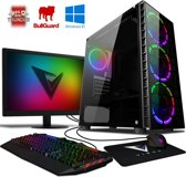 Stealth 1 Game PC - 3.9GHz AMD 2-Core CPU, GT 730 GPU, Gaming Desktop PC met 22