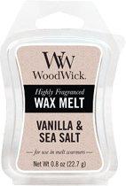 WoodWick Wax Melt Mini Vanilla & Sea Salt Mini (3 stuks)