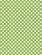 Polka Dots - Lime Green 101 - Lined Notebook with Margins 8.5x11