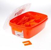 Uitvulplaatjes oranje 2mm zak van 345 plaatjes