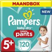 Pampers Baby-Dry Pants Luierbroekjes - Maat 5+ (12-17 kg) - 120 stuks - Maandbox