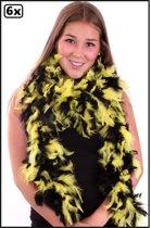 6x Boa zwart-geel 180 cm 75 gram