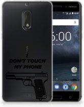Nokia 6 Uniek TPU Hoesje Pistol DTMP