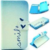 iCarer Smile print wallet case hoesje Vodafone Smart prime 7