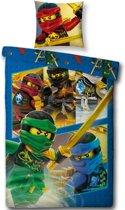 Lego Ninjago Dekbedovertrek - Eenpersoons - 140 x 200 cm - Multi