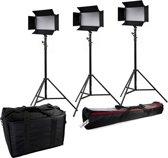 Bresser Daglichtset SH-600A Bi-Color LED Set (3x LED en 3x Statief)