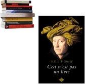 Selfshelf zwevende boekenplank Ceci n'est pas un livre | Man met tulband oker geel