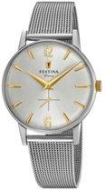 Festina F20252-2 Vintage - Horloge - Staal - Zilverkleurig - 36mm