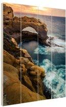 Great Ocean Road Australie Hout 40x60 cm - Foto print op Hout (Wanddecoratie)