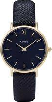CLUSE CL30014 Minuit - Horloge - Dames - Zwart - Ø 33 mm