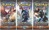 3 Pakjes Pokemon Kaarten Sun & Moon Burning Shadows