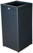 Bloembak Pilastro - hoog  60x60x120 cm - zwart wicker
