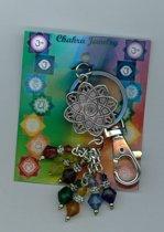 Sleutelhanger Lotus 7 Chakra