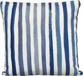 Sweet Living Sierkussen Blue Stripes Vierkant