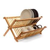 relaxdays afdruiprekje bamboe opklapbaar, afwasrekje, bamboehout, opklappen hout