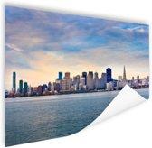 San Francisco skyline Poster 90x60 cm - Foto print op Poster (wanddecoratie)