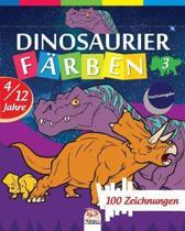 Dinosaurier f�rben 3 - Nachtausgabe: Malbuch f�r Kinder von 4 bis 12 Jahren - 25 Zeichnungen - Band 3