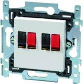 NIKO Original White inbouw luidspreker stopcontact - dubbel