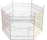 Beeztees Konijnenren - 6 Panelen 66,5 x 58 cm - 105 x 105 x 58 cm - Multi